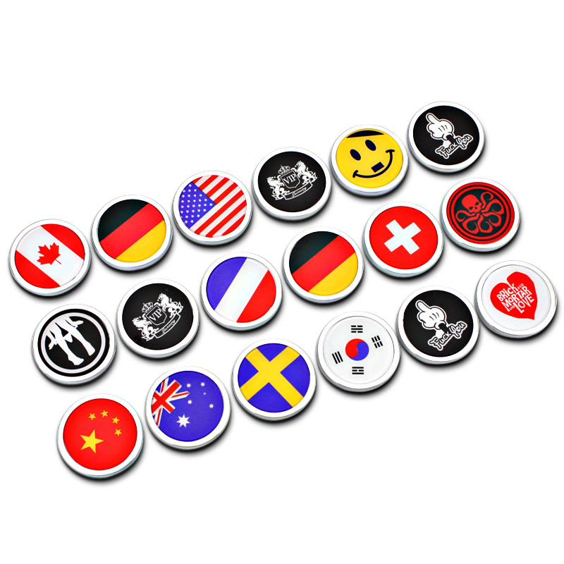 4cm Round Quality ABS Plastic DIY Flag VIP Face Sun S.H.E.I.L.D Car Styling Badge 3D Sticker Funny Decoration Refitting Mark(China (Mainland))
