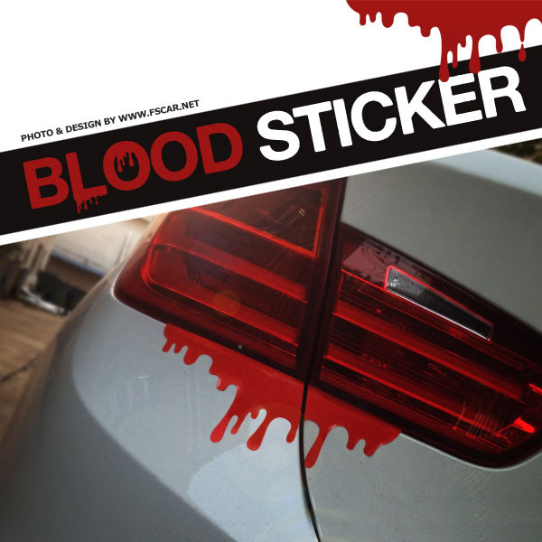 Criativo blooding decor vinyl stickers 2 pçs/lote personalidade estilo do carro reflexivo carro adesivo para qualquer carro(China (Mainland))