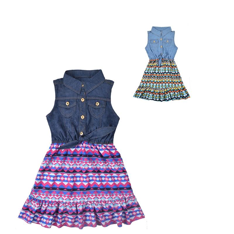 Infant Baby Denim Dresses Summer 2016 Chiffon Kids Dresses For Girls Child Party Princess Dress Clothing Tutu Kids Clothing(China (Mainland))