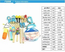 whole set children Brand Orff music learning percussion instrument toys/ Kids baby music noise early learning educational toys(China (Mainland))