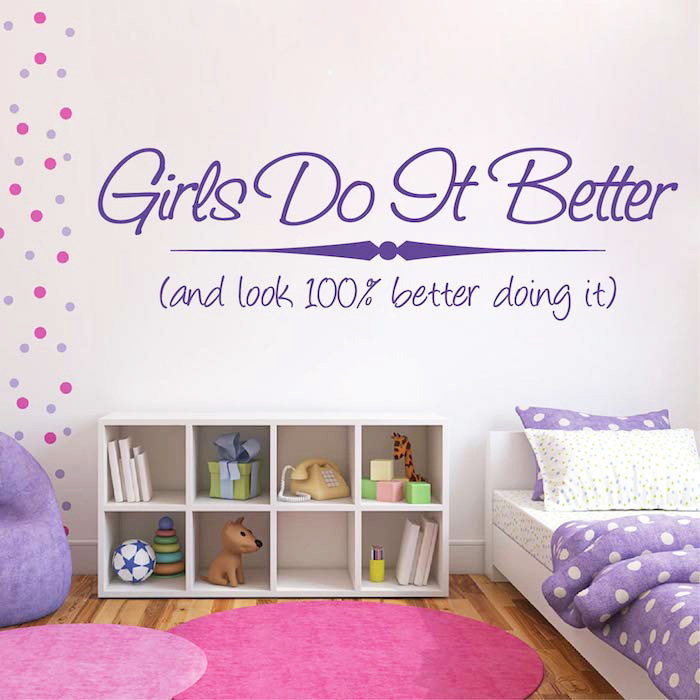 English GIRLS DO Amazon bedroom furnished home decor trade PVC removable wall stickers customized M317 - Cecilia Yip Store store