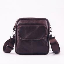 Fashion Genuine Cowhide Leather Bag Brand Shoulder Handbags High Quality Vintage Men Messenger Bags Small Men's Travel Bags