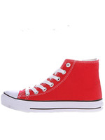 Fashion Ladies Men Mixed Color Canvas Shoes New Style Women And Male Round Toe Lace Up High Top  Flat Heel Shoes 47