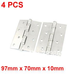 "4pcs Silver Tone 300 Degree Rotating Drawer Cabinet Crates Butt Hinge 3.8""(China (Mainland))"