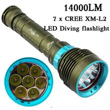 2016 New LED Diving flashlight 7 x CREE XM-L2 14000LM LED Flashlight linternas Underwater 100M Waterproof Lamp Torch(China (Mainland))
