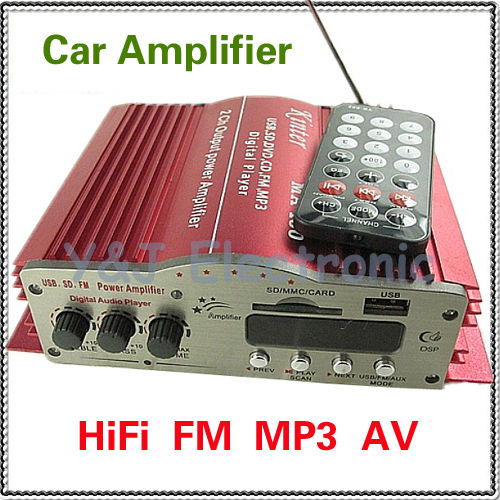 HiFi stereo USB+SD+MMC+ FM Motocycle Amplifiers support MP3 player Car home PC audio amplifier - Y&J Electronic store