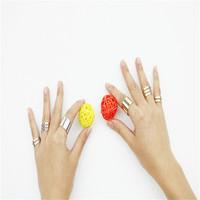 2015 3pcs/set 새로운 패션 손가락 맨으로 통해 MIDI 팁 손가락 위에 너클 개방 링 여성 패션 보석