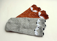 2015 Autumn Winter Hot Cute  Kids Fox Socks Totoro Socks Bear Pancake Cartoon  Girls Knee High Socks baby Long Socks(China (Mainland))