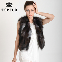Low Low Low!!! HP35 Free shipping to EMS Lady Fashion Genuine Fox fur vest/Waistcoat Style Newest In Stock Hot selling(China (Mainland))