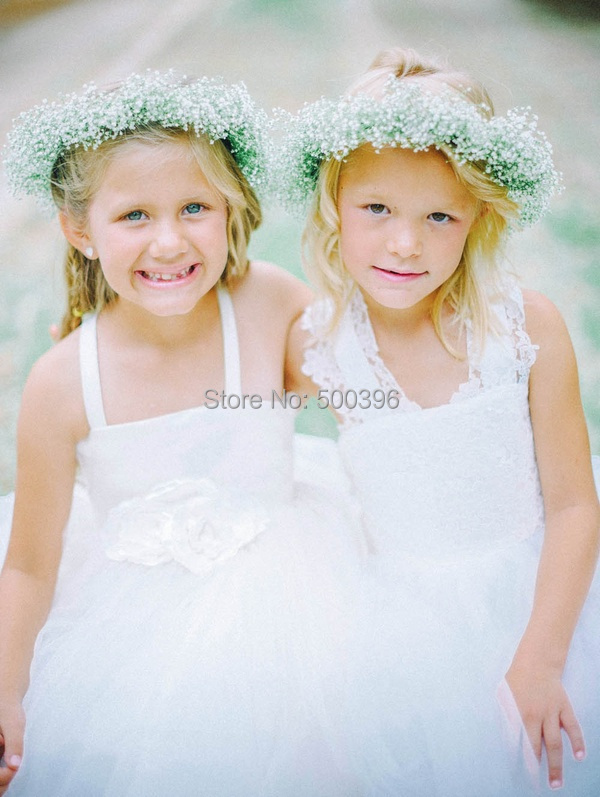 2015 Latest Collection Bespoke Couture Flower Girl Dresses Criss Cross Lace Back Ball Gown Floor Length Feathery Ruffles(China (Mainland))