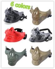 Buy CS outdoor V3 Half Face Skull Mask Metal Mesh Skull mask protection Paintball Airsoft Gun Masks Halloween horror masks for $18.80 in AliExpress store