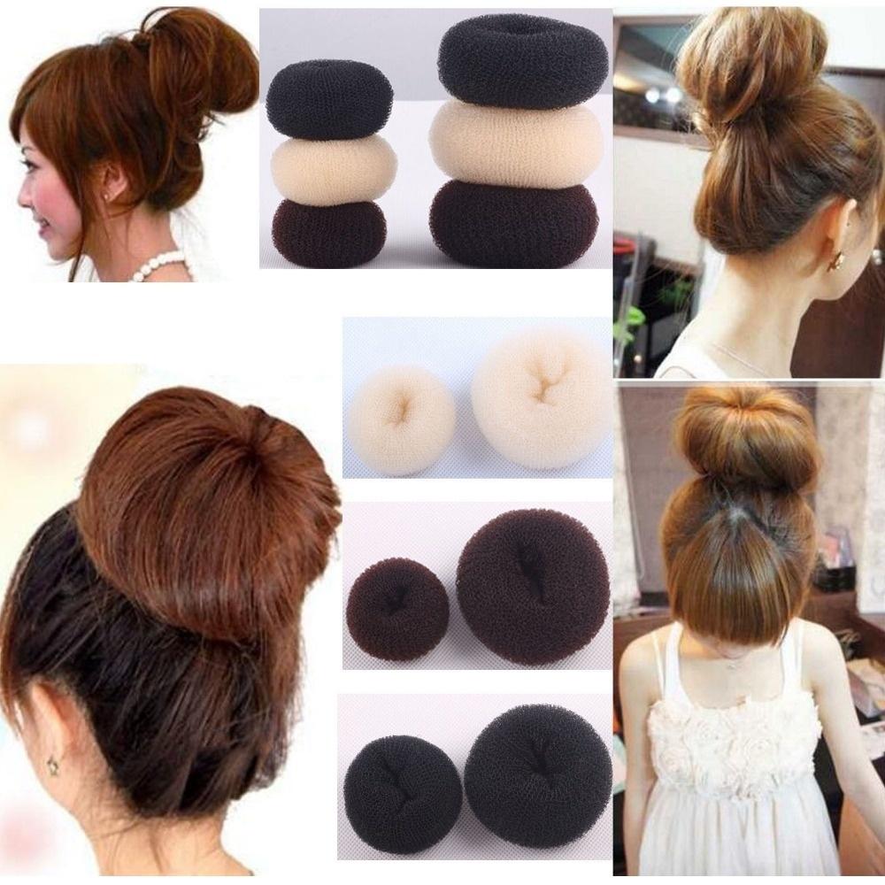 2016 hot sale 2 pcs Easy Design Style Hair Like A Bun Hair Elastic for Women and Girls Headbands Hair Accessories Donut Headwear(China (Mainland))