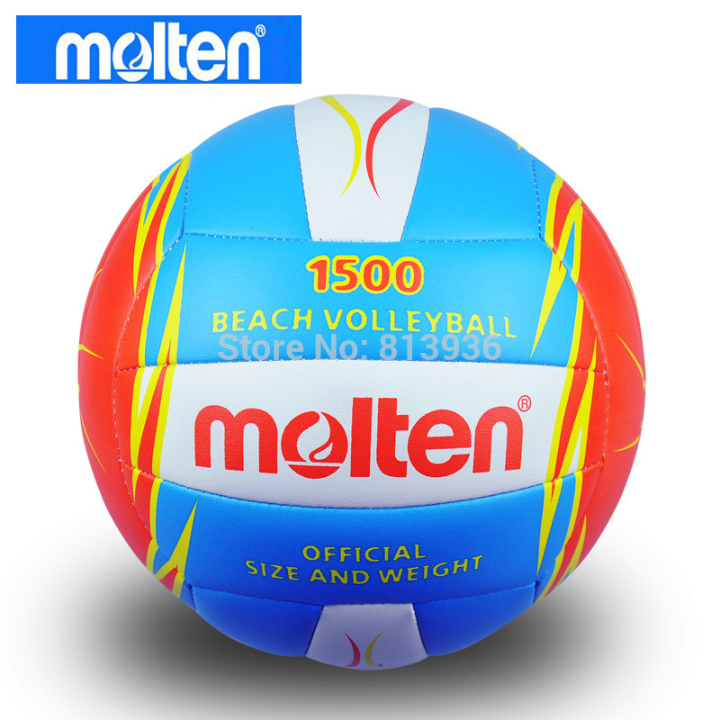 Molten Soft PU Leather Volleyball Official Game Size 5# Balls 1500 Outdoor Indoor Training Compitition Balls Beach Handballs(China (Mainland))