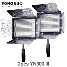 2X/lots YONGNUO YN300 III 5500K  300 LED Light On Camera Lighting for Wedding(China (Mainland))
