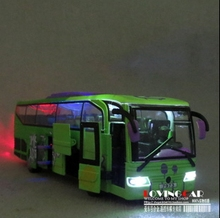 acousto-optic version Tourist bus public bus Alloy pull-back toy model car shool bus(China (Mainland))