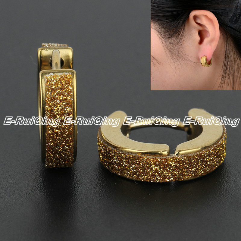 Factory Price! Men Women Round Earrings 316L Stainless Steel Stud Earrings Mini Hoops Gift High Quality Gold or Silver Wholesale(China (Mainland))
