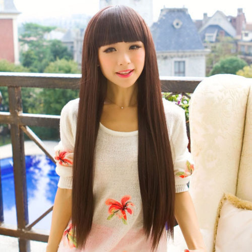 RH1556 fast shipping New Womens Long Straight Hair Full Ladies Cosplay Wig<br><br>Aliexpress