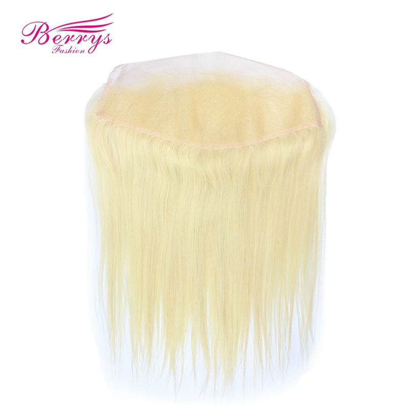613 blonde Lace Frontal 13*4 lace Closure straight European virgin hair 613# Berrys New arrival human hair lace frontal(China (Mainland))
