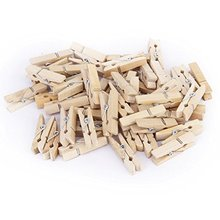 Buy ANGRLY 50pcs Wholesale Small Mine Size 25 x3mm Mini Natural Wooden Clips Photo Clips Clothespin Craft Clips Christmas for $1.49 in AliExpress store