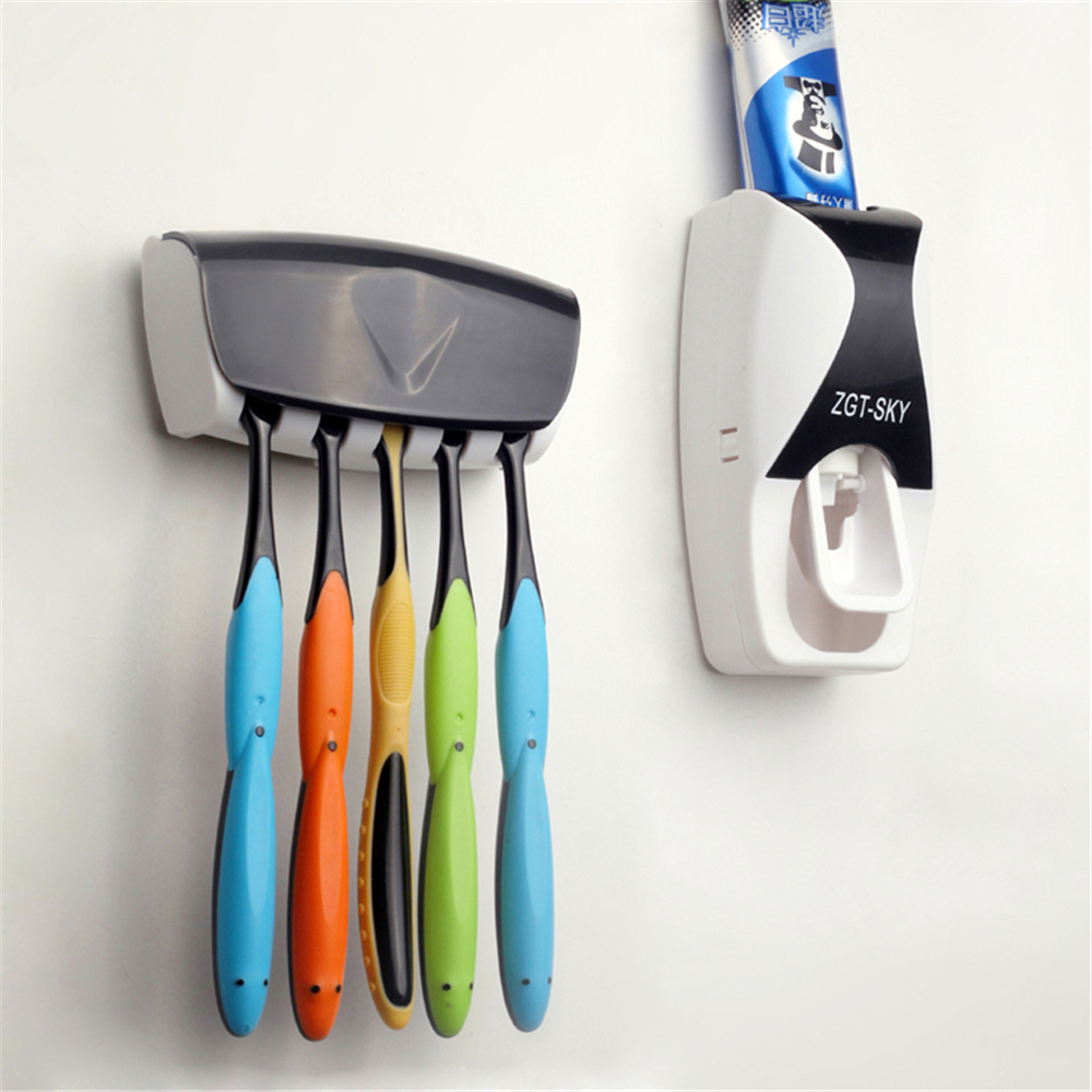 Set De Baño Mayorista:Wall Mount Toothbrush Holder Dispenser