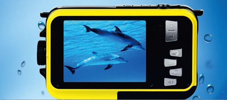 Dual Screen W8D Waterproof Camera 10M 16XZoom Underwater Shockproof Digital Camera 2 7inch LCD DisplayCameras