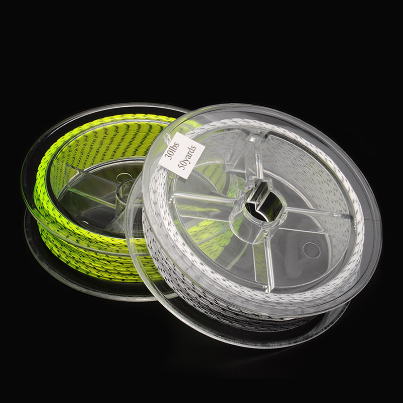 2 pcs 50 yards 30lb double color fly line backing for Fly fishing backing