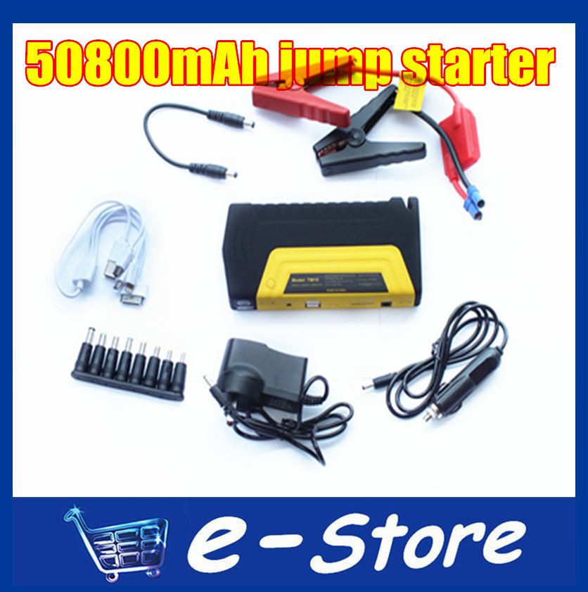 High Quality 12V Portable Mini High-capacity Jump Starter 50800mAh Car Jumper Booster Power Battery Charger(China (Mainland))