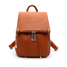 2015 Fashion Design PU Leather Women Backpack Casual School Bags For Teenagers Girls High Quality Female Travel Back Packs(China (Mainland))