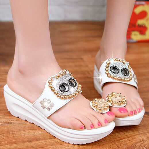 ENMAYER Slides Platform Sandals Crystal High Sandals new Wedges Sandals shoes women Fashion casual summer sandals Bohemia<br><br>Aliexpress