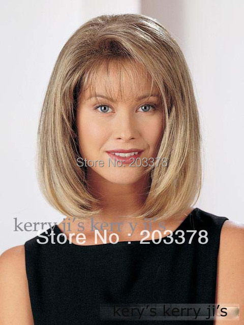 New Arrivals Medium Long Blonde mix Party Hair WIG kanekalon synthetic wigs
