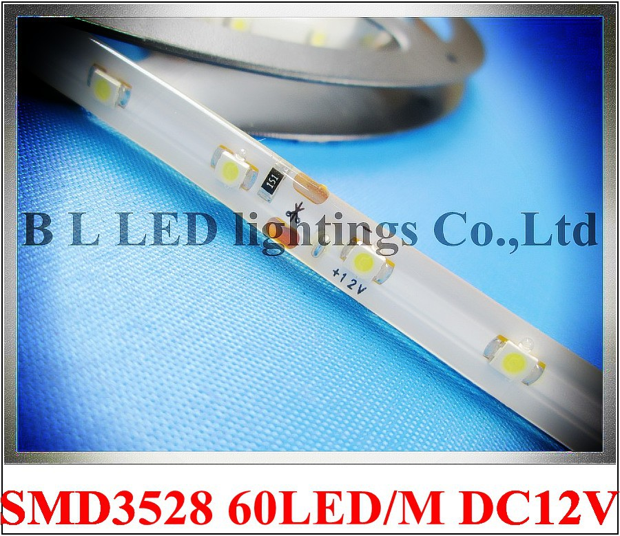 LED strip light SMD 3528 LED flexible strip light waterproof IP44 DC12V 60led/M 5M/roll 2 year warranty free shipping