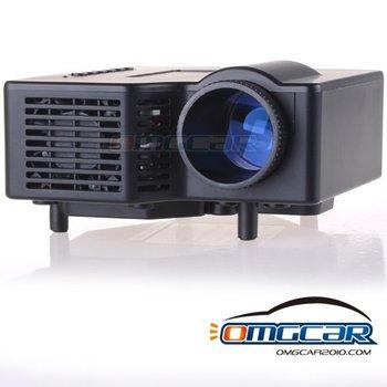 """LED Projector,mini LED Projector, 320*240 + AV IN ,USB, SD Card Slot & Speaker 17"""" - 60"""" Display Children Gift Free Shipping"""