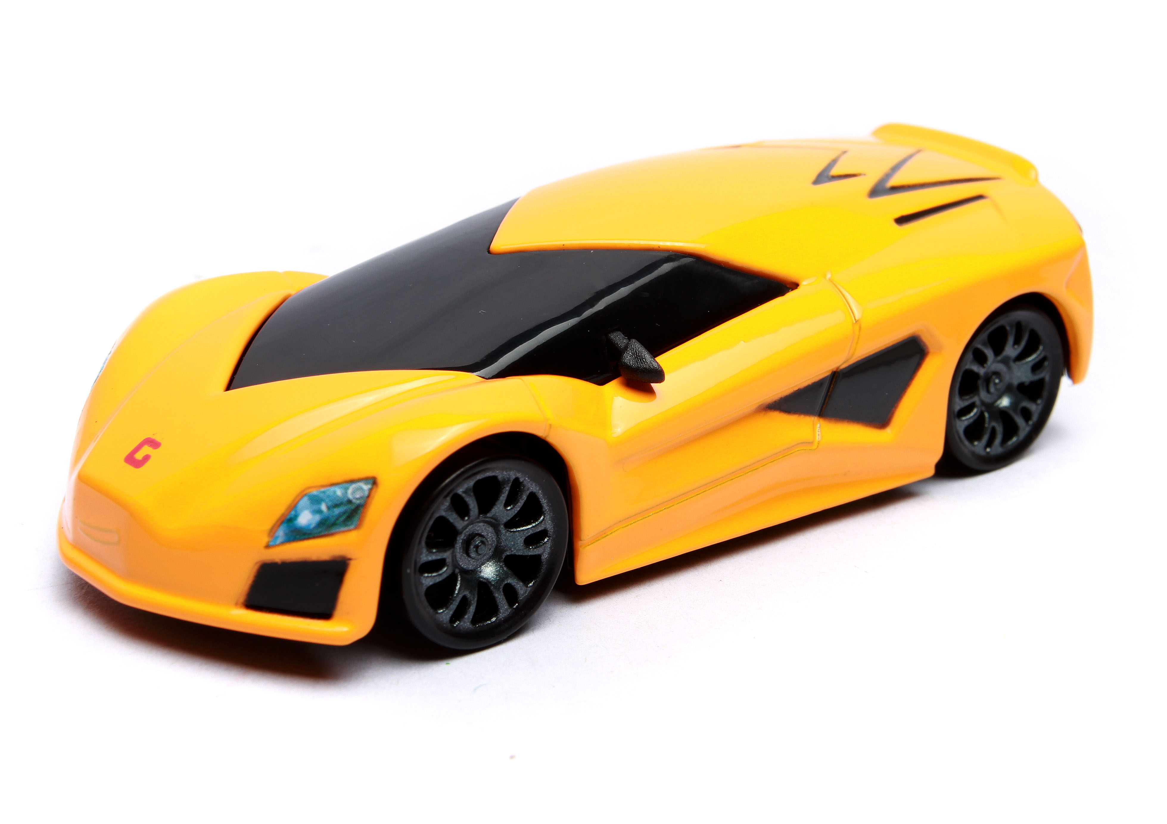 2016 new type of alloy automobile general mobilization yellow classic sports car toy model(China (Mainland))