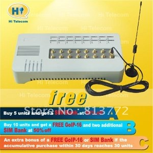 GSM VOIP GATEWAY Support SIP/H.323 of goip voip gateway sms devices 16 port GOIP 16 gsm voip gateway