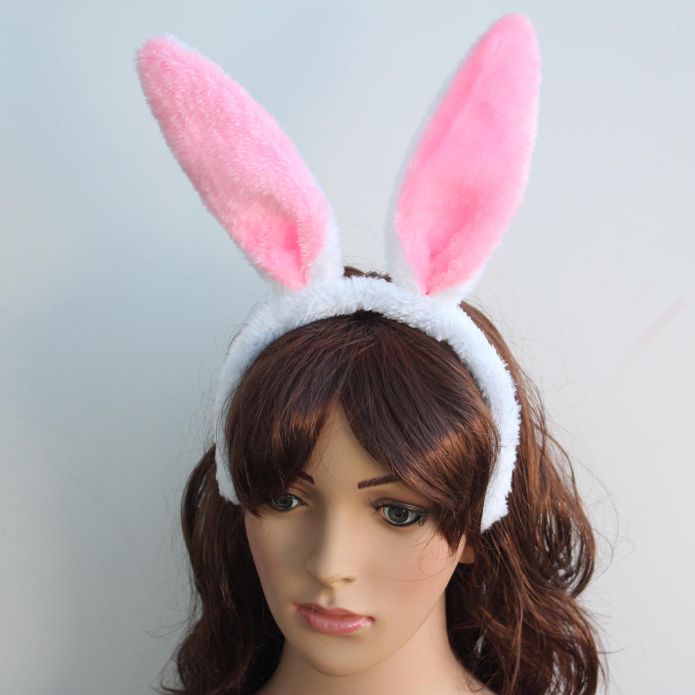 2016 New Hot Fashion Cute Bunny Rabbit Long Ears Design Halloween Easter Party Dress Up Headband For Cosplay Custome Accessories(China (Mainland))