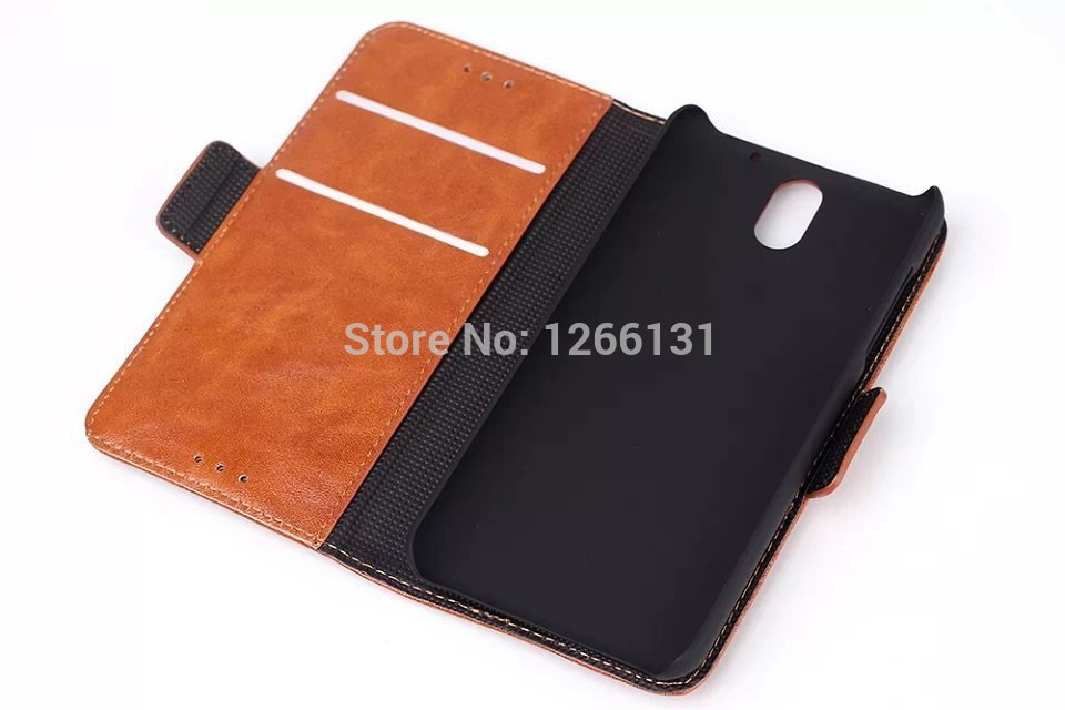 Wholesales Luxury High Quality Leather Case For HTC Desire 610 Flip Case With ID Card Brand htc 610 Cover Phone Bag With Stand(China (Mainland))