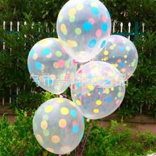Новый 10 шт./лот 12 дюймов Прозрачный Цветные Точки, Напечатанные Латекс Шар С Днем Рождения Подарок Игрушки Надутый Воздушный Шар(China (Mainland))