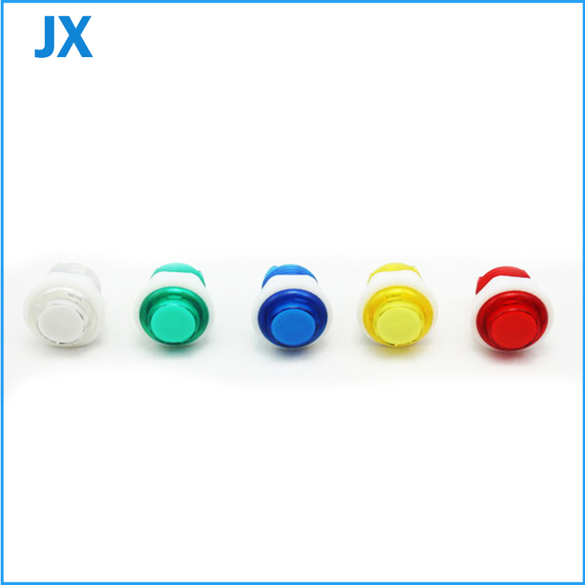 20pcs 28/24mm Transparency Illuminated button with Build-in Microswitch and LED - Screw fix/Arcade Accessories/Game Machine Part(China (Mainland))