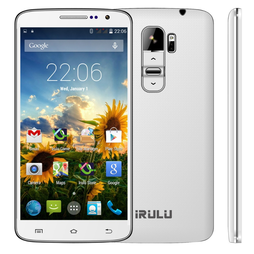 "IRULU 3G Android 4.4 Smart Mobile Phone U2 5.0"" MTK6582 Quad Core 8GB Dual SIM qHD LCD 13MP Dual CAM Heart Rate Light Sensor(China (Mainland))"