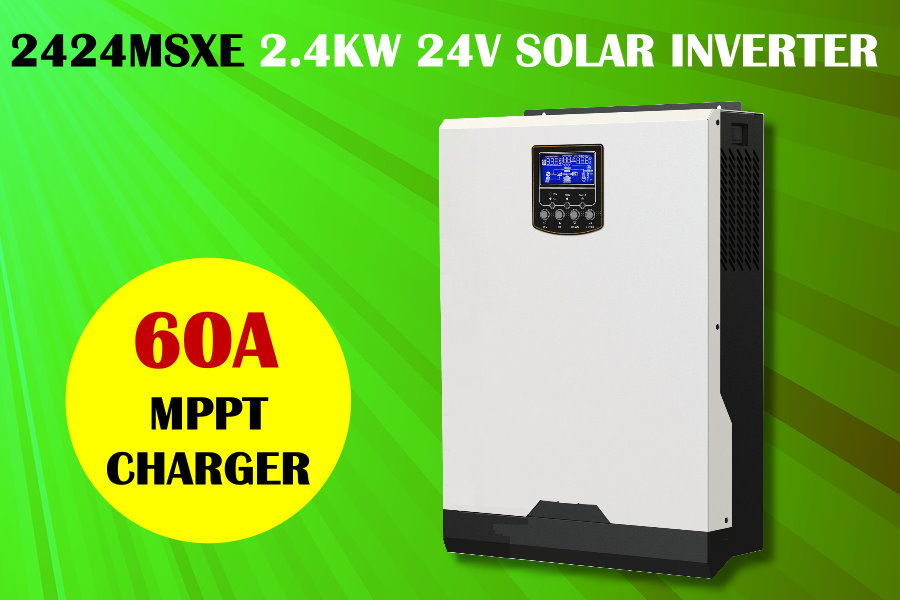 PIP2424MSXE 2400w 24v to 230V solar inverter charger with mppt solar charger 60A pure sine wave inverter(Taiwan)