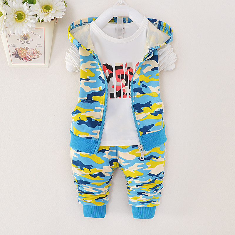2015 Brand child camouflage clothing set children military
