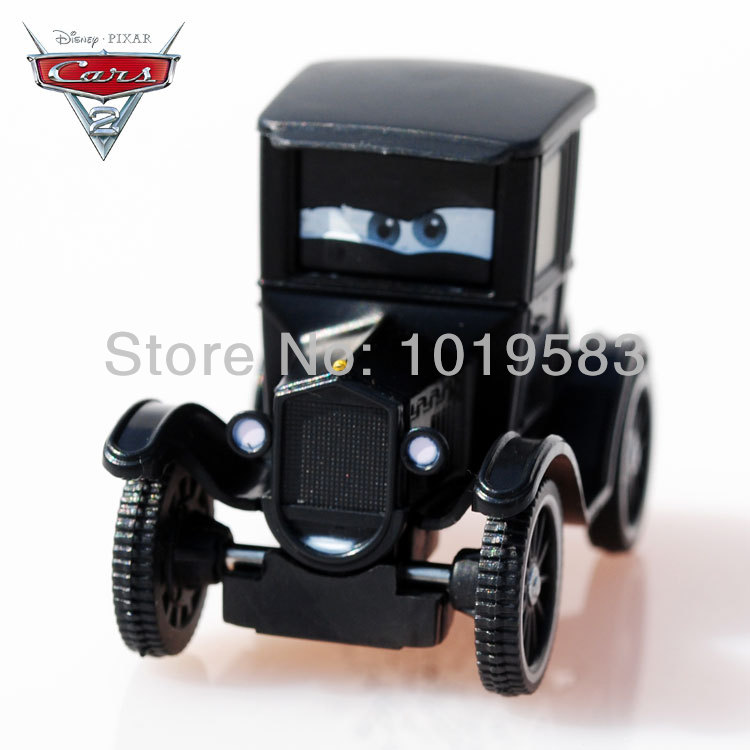 Brand New 100% Original 1/55 Scale Pixar Cars 2 Diecast Alloy Toys Lizzie Antique Car Metal Toy For Children Loose(China (Mainland))