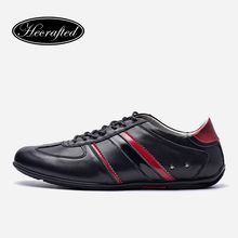 Size 36~47 genuine leather men fashion shoes 2016 top quality original Hecrafted brand Casual shoes #9955(China (Mainland))