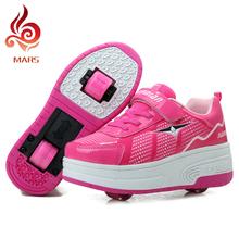 Children Heelys shoes Kids Fashion Sneakers With Wheels Boys Girls Skate Roller Shoes Ultra-Light Men Women Shoes size 28-43