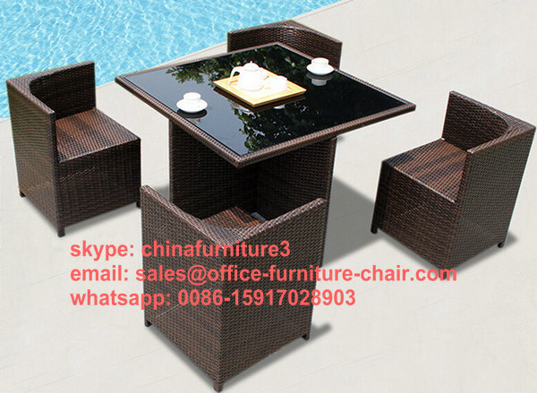 hot sell PE rattan outdoor furniture set for swimming or garden coffee(China (Mainland))