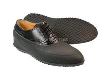 Гибкий 100% полный силиконовая резина мужчина галоши водонепроницаемый черный дождь обувной крышка вилочная часть галоши на черный день