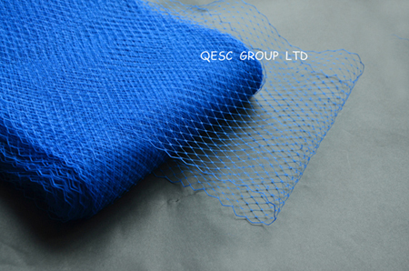 Royal blue 9'' birdcage veiling for millinery sinamay hat church hat fascinator.10 yards/lot.(China (Mainland))