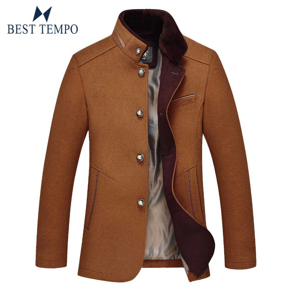 2014 New Mens Wool Coat Slim Fit Business Jackets Outerwear Warm Man Casual Jacket Overcoat Pea Coat 3 Color Size:M-XXXLОдежда и ак�е��уары<br><br><br>Aliexpress