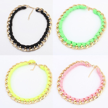 gold vintage chunky chain statement necklace women 2014 new collar fashion jewelry accessories party pendant necklaces jewellery