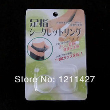 20pair Free Shipping Slimming Silicone Foot Massage Magnetic Toe Ring Fat Weight Loss Health pair